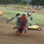 Rally Autocross buggy crash